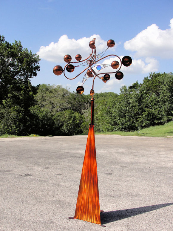 Paradox of Bling Kinetic Wind Monumental Sculpture by LaPaso