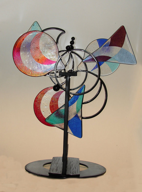 Flip Flop Kinetic Wind Monumental Sculpture by LaPaso - pendulum type piece