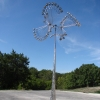 Fan Dancer whole view Kinetic Wind Monumental Sculpture by LaPaso