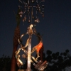 Killer Riffs at night Kinetic Wind Monumental Sculpture by LaPaso