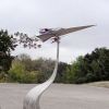 Stealth Cruzer Kinetic Wind Monumental Sculpture by LaPaso